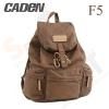 Caden F5 Retro Canvas DSLR Camera Backpack (Dark Brown)