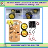 1x Smart Robot Car Chassis Kit With 2 Wheel Drive Motors and Wheels AA Battery Case