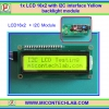 1x LCD 16x2 with I2C interface yellow backlight module
