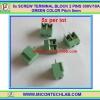 5x SCREW TERMINAL BLOCK 2 PINS Pitch 5.0mm 300V/10A GREEN COLOR