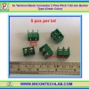 5x Terminal Block Connector 2 Pins Pitch 7.62 mm Barrier Type (Green Color)