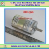1x DC Gear Box Motor 12V 300 rpm Dia 37mm Shaft Dia 6mm