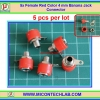 5x Female Red Color 4 mm Banana Jack Connector