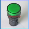 1x Green LED AC/DC 12V Size 22 mm Light Indicator Signal Lamp