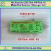 10x Resistor 220 Ohm 1/8 Watt 1% Metal film Resistor (10pcs per lot)