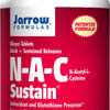 Jarrow Formulas, N-A-C Sustain, N-Acetyl-L-Cysteine, 600 mg, 100 Bilayer Tablets