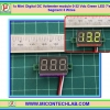 1x Mini Digital DC Voltmeter module 0-32 Vdc Green LED 7's Segment 3 Wires