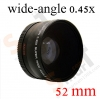 52mm Super Wide-Angle Lens 0.45X Wide Angle + Macro Lens 0.45x