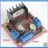 1x L298N Dual Full-bridge motor driver module (Red PCB)