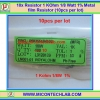 10x Resistor 1 Kohm 1/8 Watt 1% Metal film Resistor (10pcs per lot)