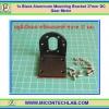 1x Mounting Bracket 37mm DC Gear Motor Black Aluminum
