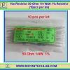 10x Resistor 50 Ohm 1/4 Watt 1% Resistor (10pcs per lot)
