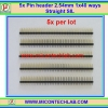 5x Pin header 2.54mm 1x40 ways Straight SIL