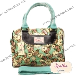 กระเป๋า Chalita wu + สายสะพาย สีเขียวอ่อน ลายนาฬิกา