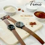 นาฬิกาคู่ นาฬิกาคู่รัก N.IX watch รุ่น Duo Project - Black/Brown