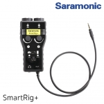 Saramonic SmartRig+ 2-Channel XLR/3.5mm Microphone Audio Mixer with Phantom Power Preamp & Guitar Interface for DSLR Cameras, Camcorders & Smartphones