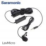 Saramonic LavMicro Broadcast-Quality Lavalier Omnidirectional Microphone with 3.5mm TRS/TRRS Combo Connector