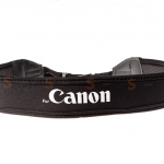 สายคล้องกล้อง Canon White on Black Neck Strap Neoprene