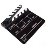 (Q002) Whiteboard Movie Film Slate ( Black )