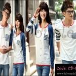 PRE-ORDER เสื้อคู่รักน่ารัก เกาหลีใหม่เนื้อผ้าฝ้ายหนาเนื้อนิ่ม ญ/ช.เสื้อยืดแขนยาว