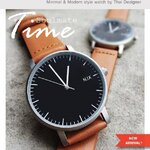 นาฬิกาคู่ นาฬิกาคู่รัก N.IX watch - Silver/Orange