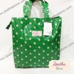 กระเป๋า Chalita wu สีเขียว ลายจุด