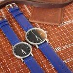 นาฬิกาคู่ นาฬิกาคู่รัก ยี่ห้อ N.IX watch รุ่น Duo Project - Silver/Blue