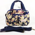กระเป๋า Chalita wu + สะพาย สีกรม ลายนาฬิกา