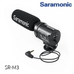 Saramonic SR-M3 Mini Directional Condenser Microphone with Integrated Shockmount, Low-Cut Filter & +10dB Audio Gain Switches for DSLR Cameras & Camcorders