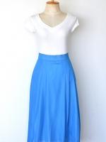 """Vintage Blue Skirt (Waist 27"""")"""