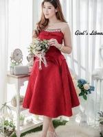 พร้อมส่ง-ไซส์ L เป็น Dress lace swing ลูกไม้ฝรั่งเศสอย่างดี เป็นผ้านำเข้าสั่งทำพิเศษ เนื้อผ้าด้านในเป็นทรงสวยมากๆ ประดับด้วย Crystal มีดันทรงฟองน้ำ