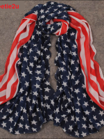 ผ้าพันคอชีฟองลายธงชาติอเมริกา