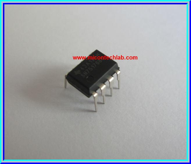 8-Pin PDIP 10 x Texas Instruments SN75176BP Bus Transceiver