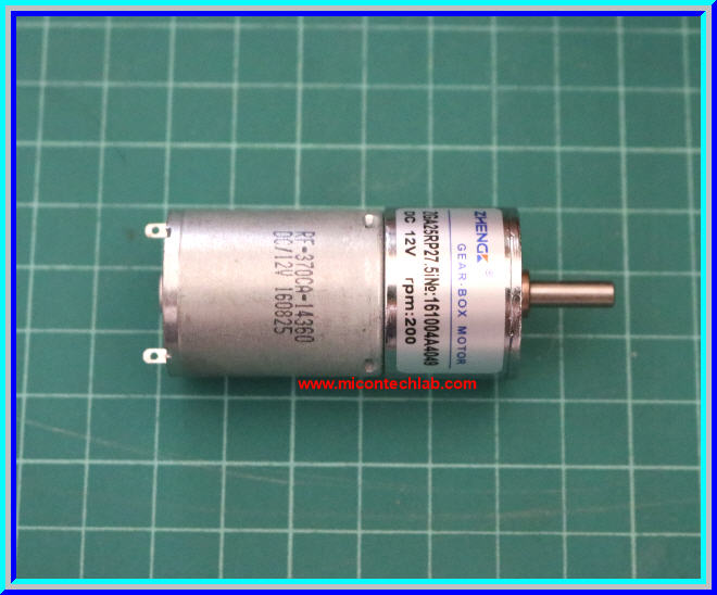 1x Zga25rp Dc Gear Box Motor 12v 200 Rpm Dia 25 Mm Shaft