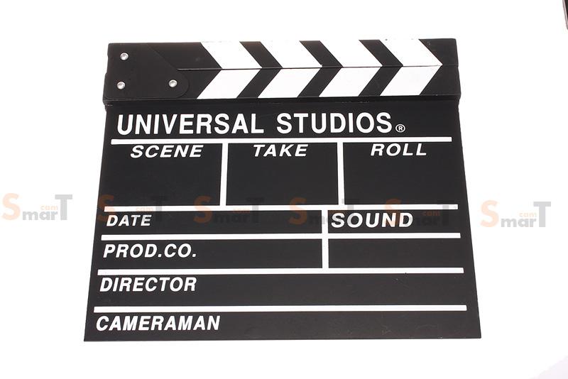 (Q001) Wood Movie Film Slate ( black )