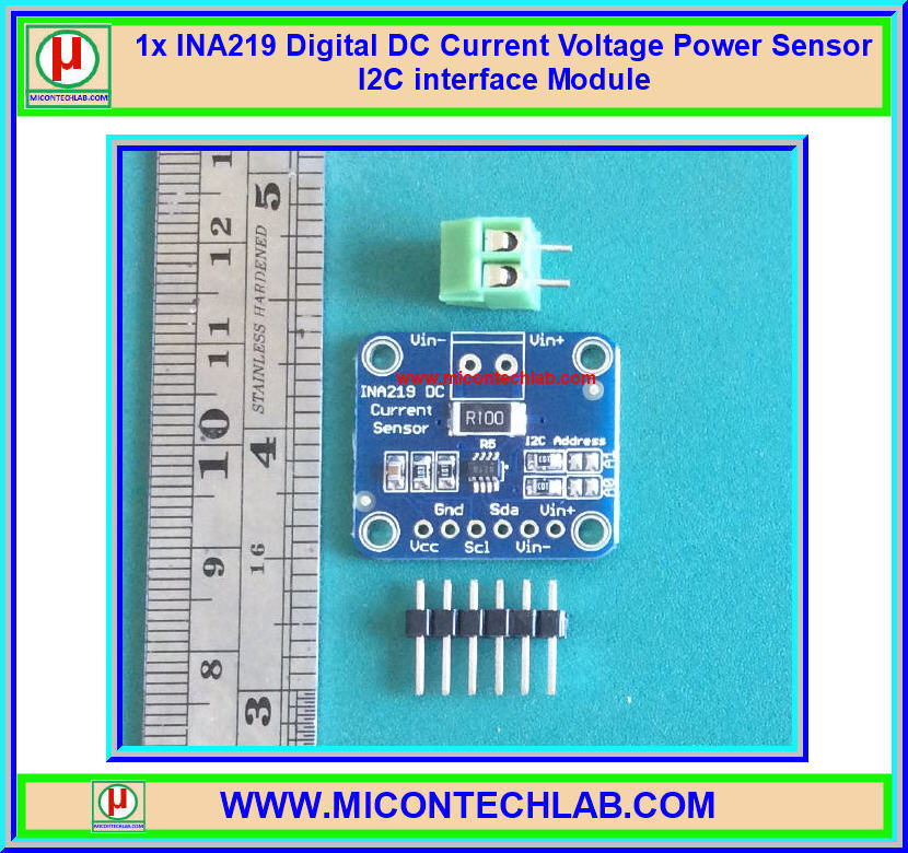 1x INA219 Digital DC Current Voltage Power Sensor I2C interface Module