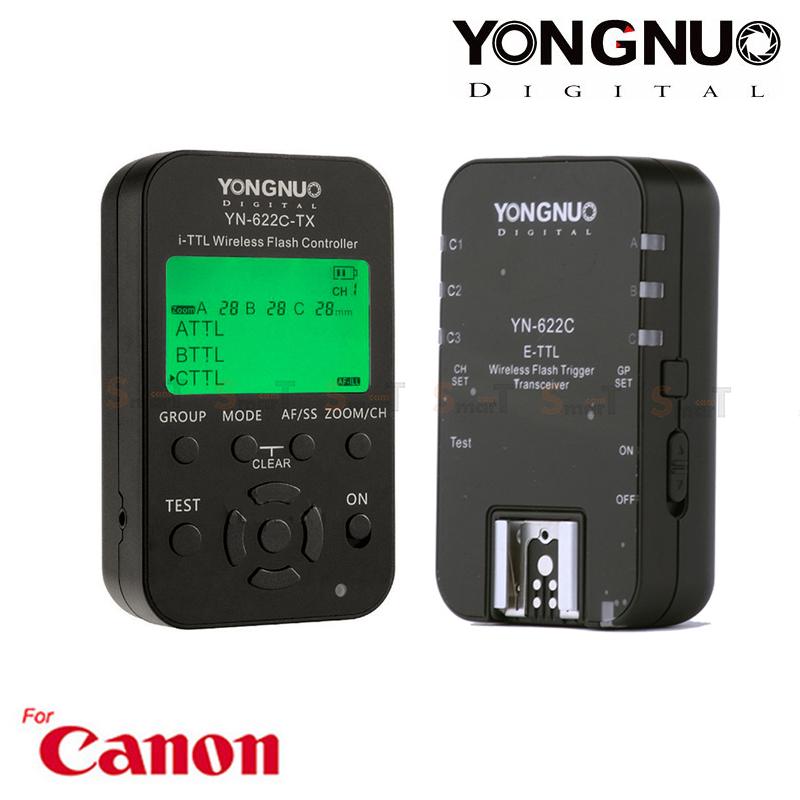 Flash Trigger YN-622C Kit Youngnuo for Canon Auto E-TTL II ตัวสั่งงานแฟลชไร้สาย