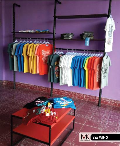 อุปกรณ์ตกแต่งร้านขายเสื้อผ้า อะคริลิค ราคาถูก