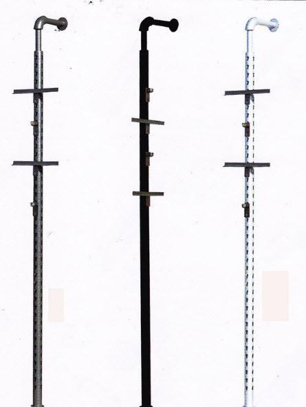 เสารูกุญแจ เส้นผ่าศูนย์กลาง 50 มม.สูง 2.4 เมตร