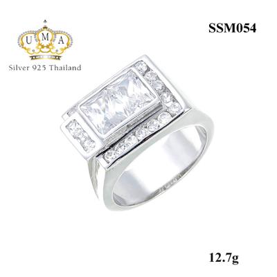 แหวนพลอยผู้ชาย ประดับเพชรCZ ดีไซน์สวยงามหนักแน่น ประดับเพชรน้ำงามมากแวววาว ไม่ใหญ่และไม่เล็กจนเกินไปสามารถใส่ได้ทุกวัน สง่างาม มีรสนิยม