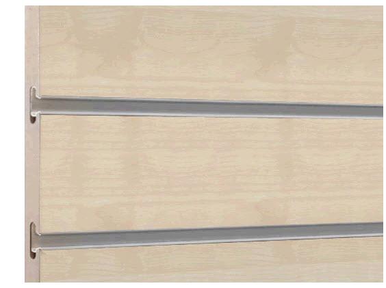 รางอลูมิเนียม ฝังผนัง Slatwall Panels ยาว 2.4 เมตร