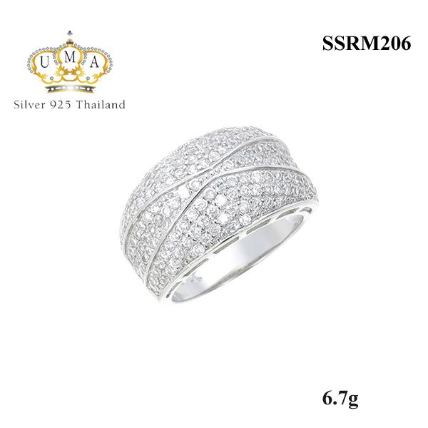 แหวนเงิน ประดับเพชร CZ แหวนหน้าใหญ่ทรงนูน งานเนี๊ยบมากน่ารักๆ เพชรแวววาว สำหรับการสวมใส่ออกงานราตรี งานสังสรรค์ต่างๆ สะดุดตาประทับใจแก่ผู้พบเห็น