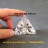 เพชรCZ ทรงสามเหลี่ยม สีขาว (TRIANGLE White) - Size 10x10mm - 1แพ็ค - 50เม็ด