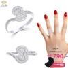 แหวนเพชร ประดับ เพชรCZ แหวนทรงลายไทย ฝังเพชรกลมขาว บ่าฝังเพชรเรียงแถวดีไซน์คลาสสิคหรูหรา แบบไม่ซ้ำใคร