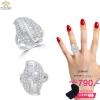 แหวนเงิน ประดับเพชร CZ แหวนดีไซน์เก๋สวยหรู ดูสวยงามมีดีเทล แสดงถึงรสนิยมที่เรียบหรูระยิบระยับมาก