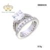 แหวนเพชรคู่ ประดับเพชรCZ แหวนชูคู่กับแหวนเพชรรอบวง สแตคแบบมีแหวนวงใหญ่สุดเป็นหัวใจหลัก สามารถใส่ เป็นคู่ หรือ แยก ใส่ได้ค่ะ