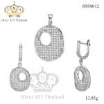ต่างหูพร้อมจี้ ( เงิน ) = Earring with Pendant ( Silver )
