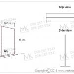 อะคริลิคตั้งโต๊ะ T-shape A6
