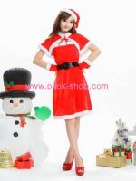 ชุดซานตี้สีแดงสไตล์น่ารักๆ