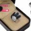 แหวนเงิน ประดับเพชร CZ แหวนสุดหรู หน้าใหญ่ ฝังเพชรกลมขาวเต็มหน้า เล่นดีไซน์ลวดลายใบไม้ ฝังเพชรกลมดำ โดดเด่น ส่องประกายสวยแบบ 360 องศา thumbnail 2